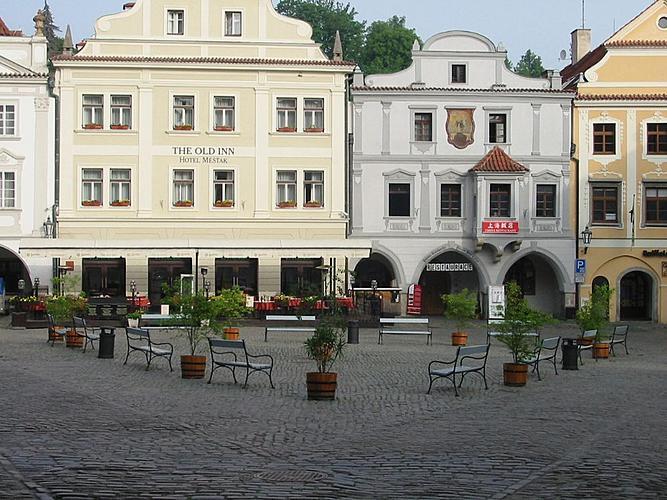 Veřejná zeleň ve městě Český Krumlov - náměstí Svornosti