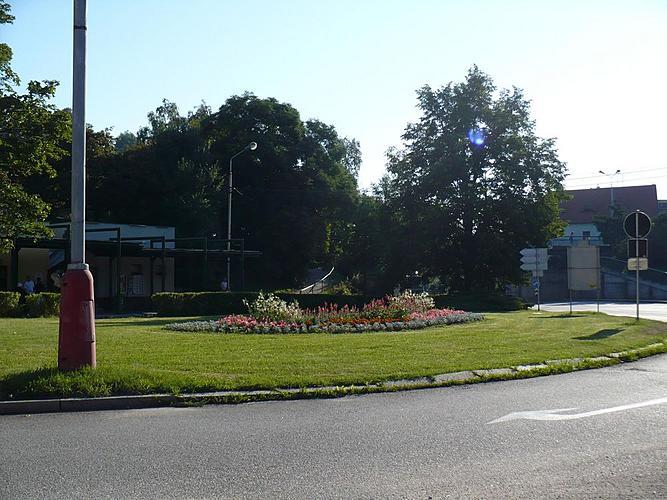Veřejná zeleň ve městě Český Krumlov - Letničky u Porákova mostu